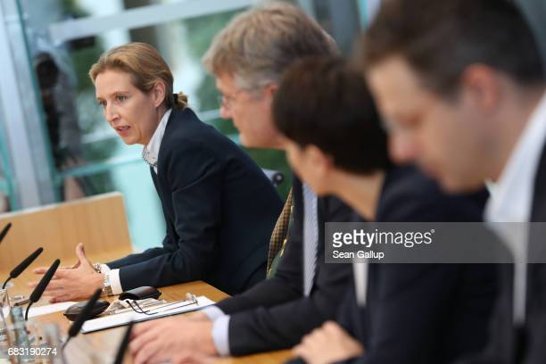 Alice Weidel colead candidate in German federal elections for the rightwing populist Alternative for Germany political party and other leading AfD...