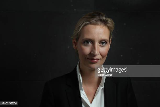 Alice Weidel colead candidate of the rightwing populist Alternative for Germany political party poses for a portrait prior to speaking to the Foreign...