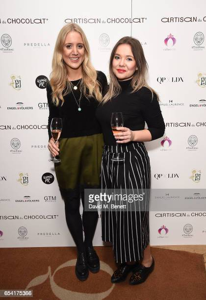 Alice Wellings and Cat Roach attend the ICONIC PR LND and PerrierJouët art presention of works by Picasso Miro Matisse Chagall at QP LDN on March 16...