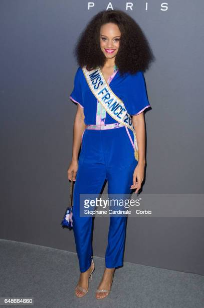 Alicia Aylies attends the Leonard show as part of the Paris Fashion Week Womenswear Fall/Winter 2017/2018 on March 6 2017 in Paris France