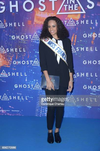 Alicia Aylies attends the Paris Premiere of the Paramount Pictures release 'Ghost In The Shell' at Le Grand Rex on March 21 2017 in Paris France