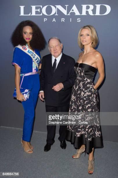 Alicia Aylies Daniel Tribouillard and Sylvie Tellier attend the Leonard show as part of the Paris Fashion Week Womenswear Fall/Winter 2017/2018 on...