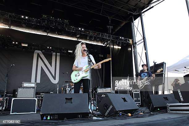 Alicia Bognanno and Reece Lazarus of Bully perform on day 3 of Northside Festival on June 13 2015 in Brooklyn United States