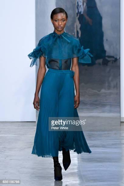 Alicia Burke walks the runway at Carolina Herrera show during New York Fashion Week on February 13 2017 in New York City