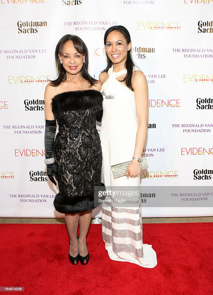 Alicia Bythewood and Brie Bythewood attend the Evidence, A Dance Company 9th annual Torch Ball at The Plaza Hotel on March 25, 2013 in New York City.