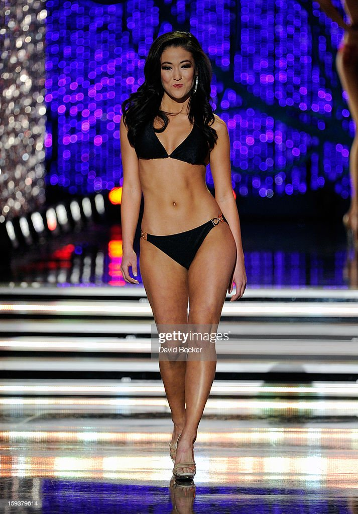 Alicia Clifton, Miss Oklahoma, competes in the swimsuit competition during the 2013 Miss America Pageant at PH Live at Planet Hollywood Resort & Casino on January 12, 2013 in Las Vegas, Nevada.