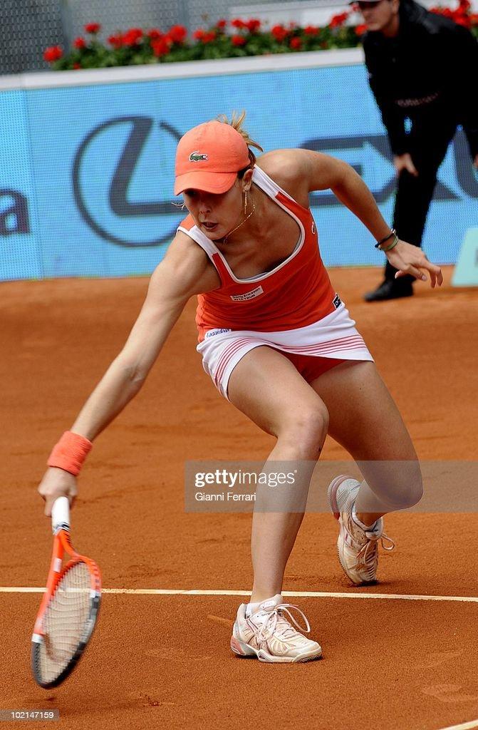 Alicia Cornet, FRA, in the tennis 'Mutua Madrilena Madrid Open', 8th May 2010 , 'La Caja Magica', Madrid, Spain.