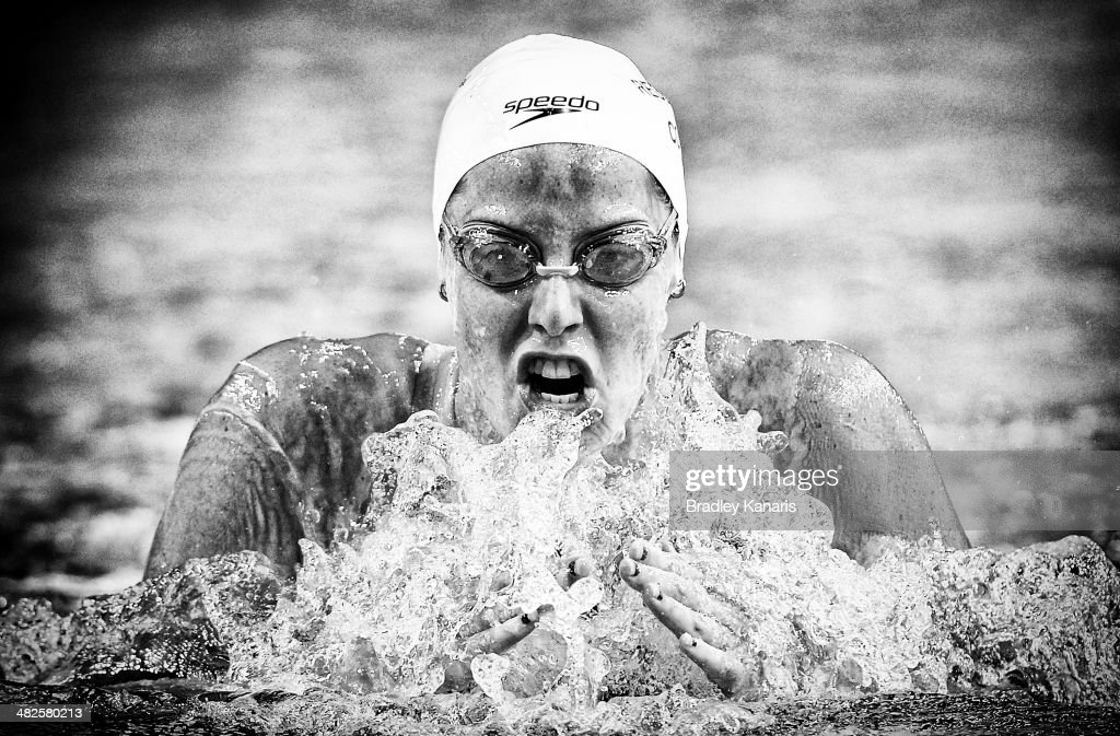 Alicia Coutts competes in the final of the Womens 200 metre Individual Medley event during the 2014 Australian Swimming Championships at Brisbane Aquatic Centre on April 4, 2014 in Brisbane, Australia.