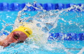 Alicia Coutts of Australia competes during the Swimming Women's 200m Individual Medley Final on day ten of the 15th FINA World Championships at Palau...