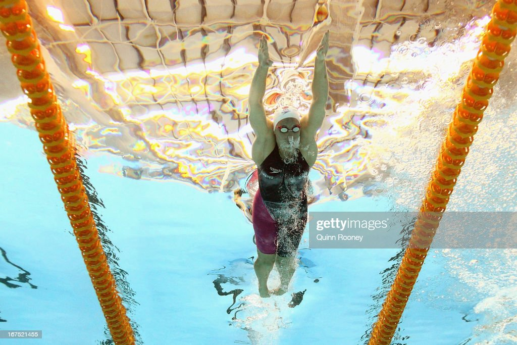 Alicia Coutts of Australia competes in the Women's 200 Metre Individual Medley during day one of the Australian Swimming Championships at the SA Aquatic and Leisure Centre on April 26, 2013 in Adelaide, Australia.