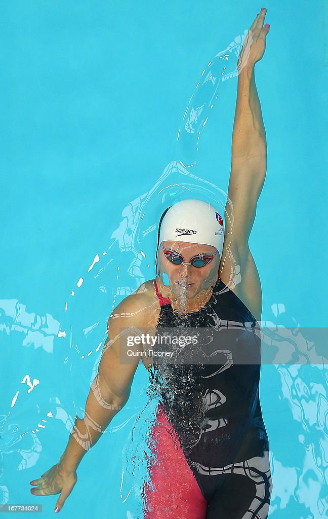 Alicia Coutts of Australia competes in the Women's 50 Metre Backstroke during day four of the World Swimming Championships at SA Aquatic and Leisure Centre on April 29, 2013 in Adelaide, Australia.