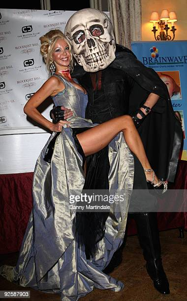 Alicia Douvall and a guest attend The Bloodlust Ball at Hampton Court Palace on October 31 2009 in London England