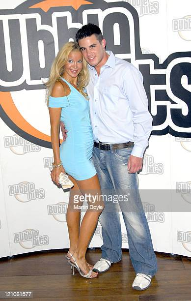 Alicia Douvall and Liam McKenna during Bubble Hits Music Channel Launch Party August 8 2006 at Soho Hotel in London Great Britain