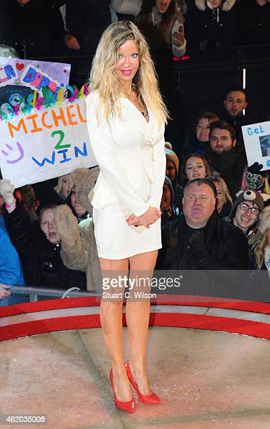 Alicia Douvall becomes the 2nd celebrity evicted from Celebrity Big Brother at Elstree Studios on January 23 2015 in Borehamwood England