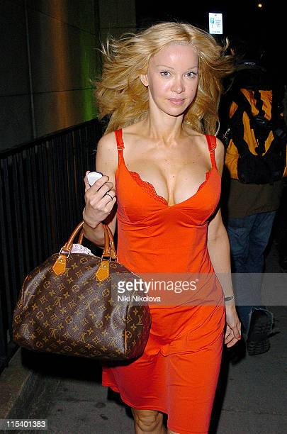 Alicia Douvall during Celebrity Sightings at Nobu in London June 27 2005 at Nobu Restaurant in London Great Britain