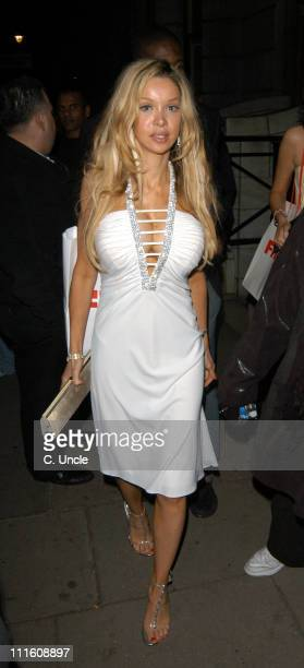 Alicia Douvall during Kirsty Gallagher and Alicia Douvall Sighting in London April 21 2005 at Aura Night Club in London Great Britain