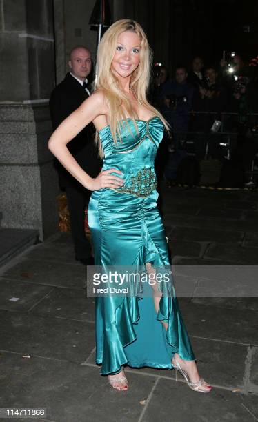 Alicia Douvall during La Dolce Vita Party Arrivals at Old Billingsgate in London United Kingdom
