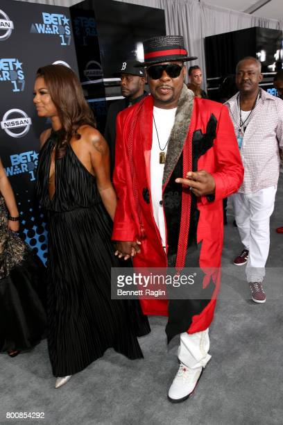 Alicia Etheredge and Bobby Brown at the 2017 BET Awards at Staples Center on June 25 2017 in Los Angeles California