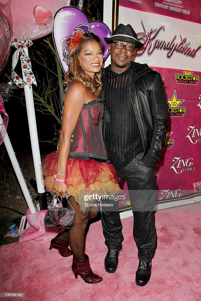 Alicia Etheredge and Bobby Brown attend the 8th annual Kandyland on August 17, 2013 in Beverly Hills, California.