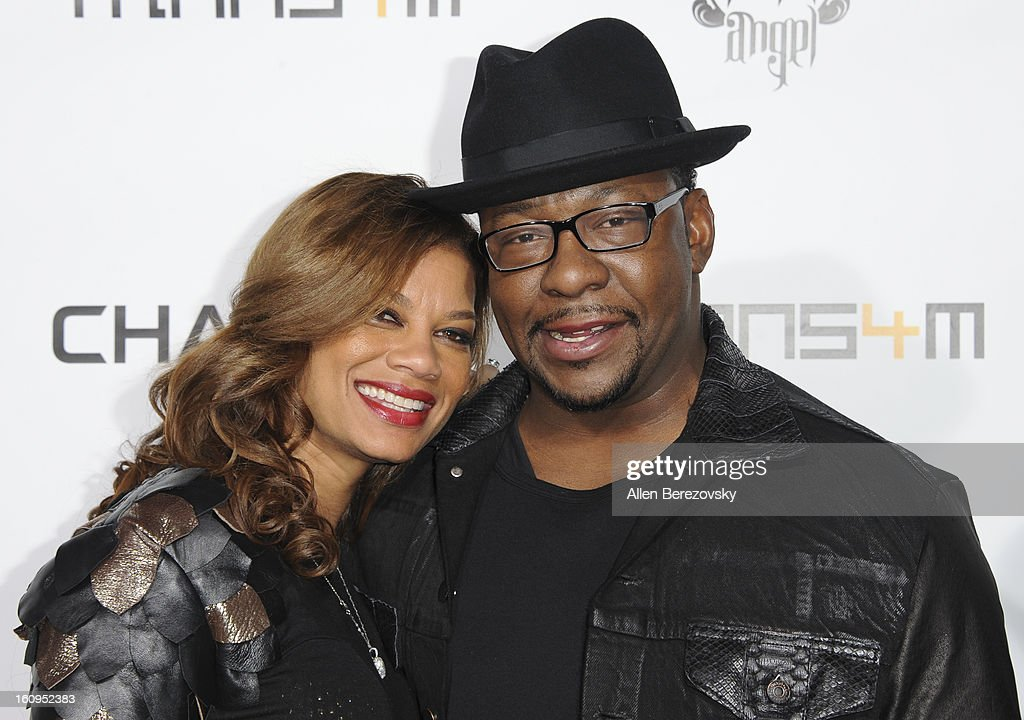 Alicia Etheredge and <a gi-track='captionPersonalityLinkClicked' href=/galleries/search?phrase=Bobby+Brown+-+Singer&family=editorial&specificpeople=12208409 ng-click='$event.stopPropagation()'>Bobby Brown</a> attend Will.I.Am's Annual TRANS4M Concert Benefitting I.Am.Angel Foundation - Red Carpet on February 7, 2013 in Hollywood, California.