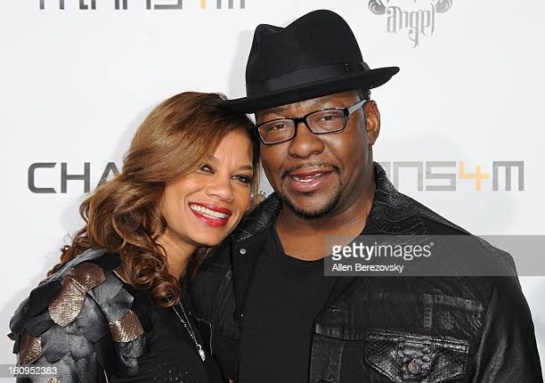 Alicia Etheredge and Bobby Brown attend WillIAm's Annual TRANS4M Concert Benefitting IAmAngel Foundation Red Carpet on February 7 2013 in Hollywood...