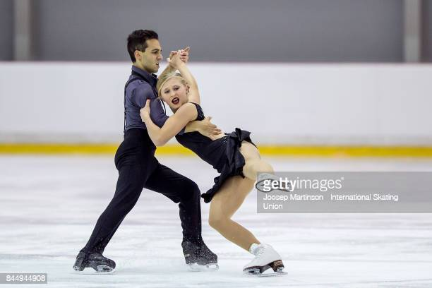 Alicia Fabbri and Claudio Pietrantonio of Canada compete in the Junior Ice Dance Free Dance during day 3 of the Riga Cup ISU Junior Grand Prix of...