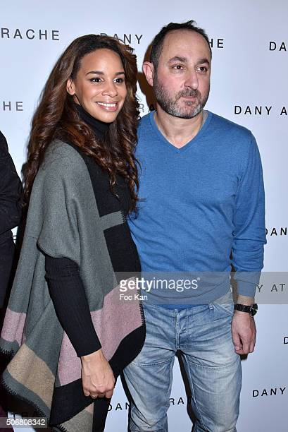 Alicia Fall and Dany Atrache attend the Dany Atrache Spring Summer 2016 show as part of Paris Fashion Week on January 25 2016 in Paris France