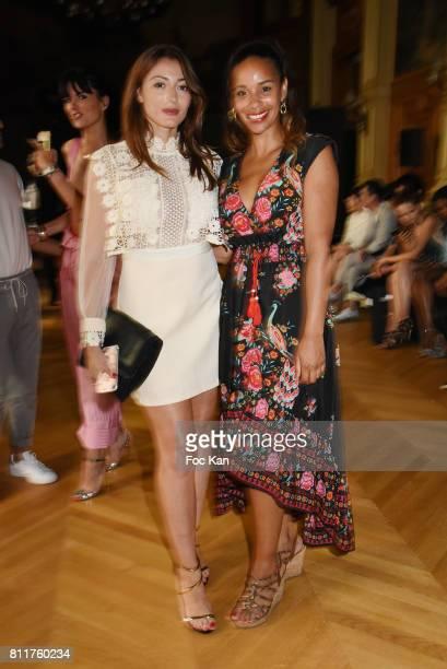 Alicia Fall and Rachel Legrain Trapani attend the Dany Attrache Haute Couture Fall/Winter 20172018 show as part of Haute Couture Paris Fashion Week...