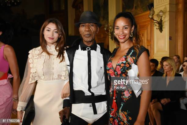 Alicia Fall Dexter Dex Tao and Rachel Legrain Trapani attend the Dany Attrache Haute Couture Fall/Winter 20172018 show as part of Haute Couture Paris...