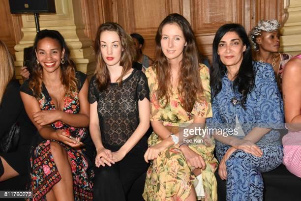 Alicia Fall Juliette Besson Clemence Rochefort and Fatima Adoun attend the Dany Attrache Haute Couture Fall/Winter 20172018 show as part of Haute...