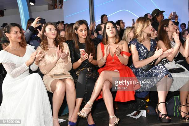 Alicia Fall Rachel Legrain Trapani Malika Menard Gyselle Soares and Eleonore Boccara attend the Christophe Guillarme show as part of the Paris...