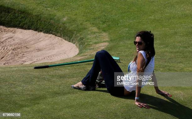Alicia FernandezCastano wife of Gonzalo FernandezCastano during practice day three for the 2013 Open Championship at Muirfield Golf Club East Lothian