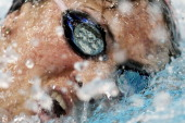 Alicia Grima competes in the Women's 500 yard Freestyle heats on day one of the ATT Short Course National Championships at McCorkle Aquatic Pavillion...