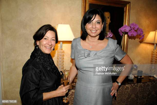 Alicia Guerra and Jackie Horowitz attend American Folk Art Museum's Kickoff Party hosted by Yaz and Valentin Hernandez at Private Residence on...