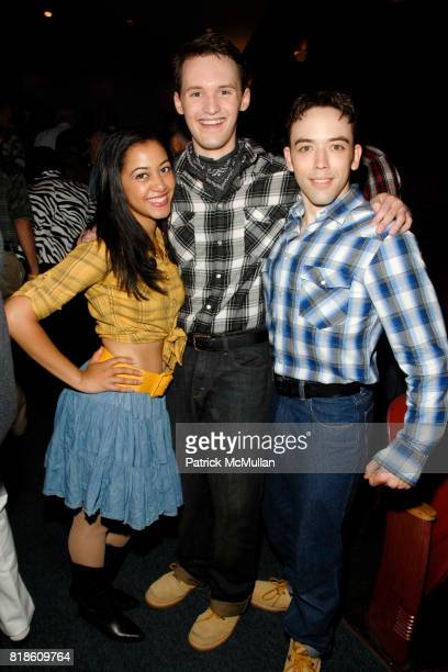 Alicia Jagrup Christopher Timson and Matthew Burns attend Opening of A Moment in Time by Stewart F Lane at Performing Arts Center on June 25 2010 in...