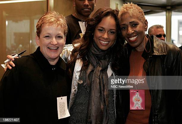 TODAY Alicia Keys Air Date Pictured Alicia Keys poses with her mother Teresa Augello and first piano teacher Margaret Pine on NBC News' 'Today' on...