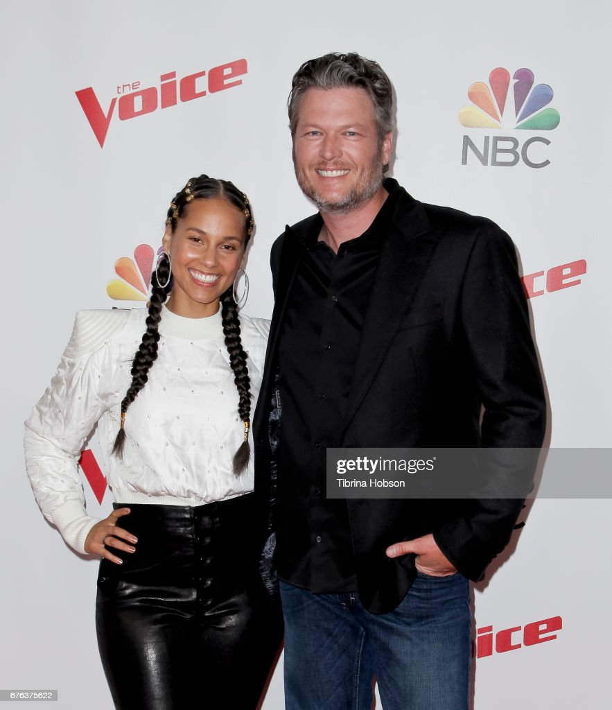 Alicia Keys and Blake Shelton attend 'The Voice' Season 12 coaches red carpet at Universal Studios Hollywood on May 1, 2017 in Universal City, California.