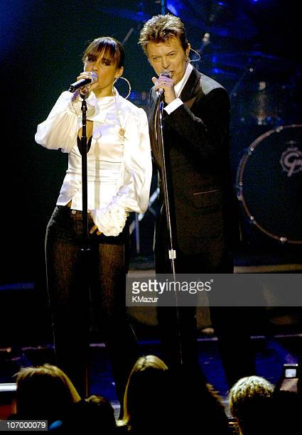 Alicia Keys and David Bowie during Conde Nast Media Group Presents 'The Black Ball' to Benefit 'Keep a Child Alive' Hosted by Alicia Keys and Iman...