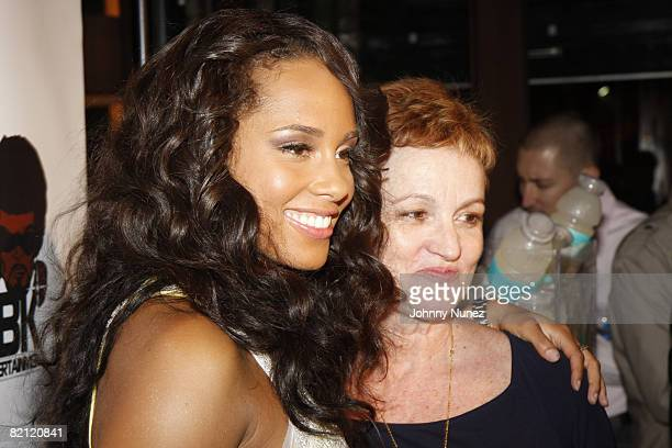 Alicia Keys and her mother Terri Augello attend the Alicia Keys 'As I Am' Tour Wrap Celebration on June 18 2008 at The Park in New York