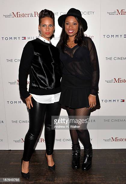 Alicia Keys and Jennifer Hudson attend The Cinema Society Tommy Hilfiger screening of 'The Inevitable Defeat of Mister Pete' at Tribeca Grand...