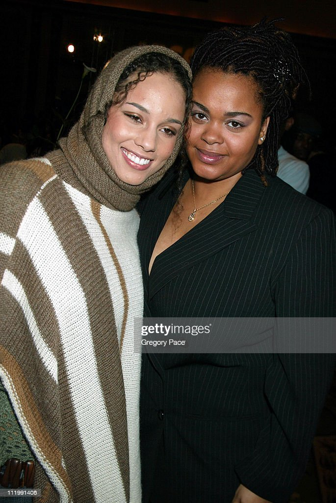 Alicia Keys and Jill Scott during Artist Empowerment Coalition Luncheon Honoring the Nominees of the 45 Annual Grammy Awards at New York Hilton Hotel in New York, NY, United States.