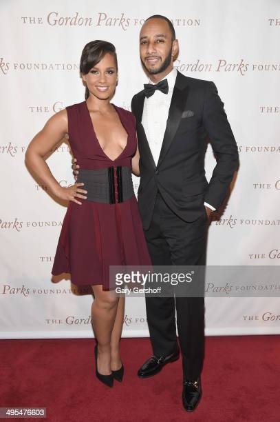 Alicia Keys and Kasseem 'Swizz Beatz' Dean attend the 2014 Gordan Parks Foundation Awards Dinner Auction at Cipriani Wall Street on June 3 2014 in...