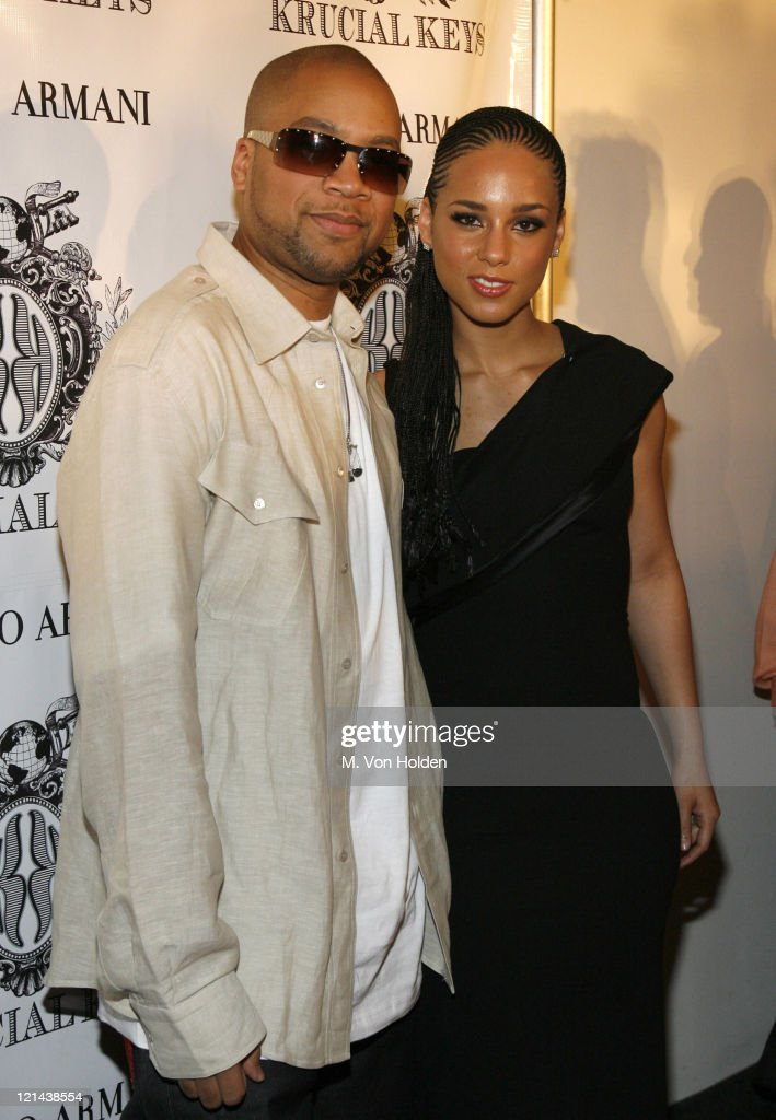 Alicia Keys and Kerry Brothers during Alicia Keys and Kerry 'Krucial' Brothers launch 'wwwkrucialkeyscom' at Tribeca Rooftop in Manhattan New York...