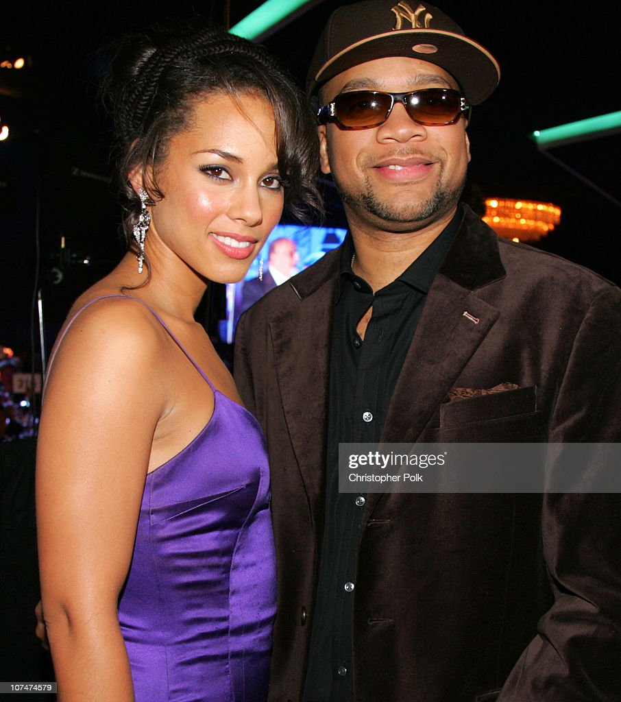 Alicia Keys and Kerry Brothers during Clive Davis' 2006 PreGRAMMY Awards Party Dinner at Beverly Hilton Hotel in Beverly Hills California United...
