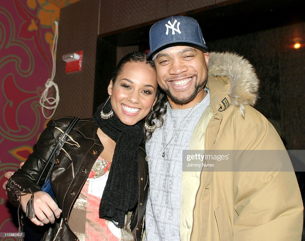 Alicia Keys and Kerry Brothers during Hennessy Paradis Hosts An Intimate Dinner Celebrating 'The Diary Of Alicia Keys' Album Release at Eugene in New...