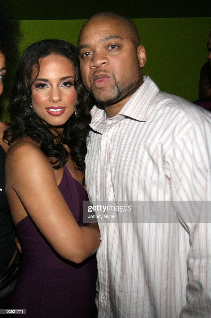 Alicia Keys and Kerry Krucial Brothers attend Alicia Keys and MBK Entertainment/J Records Celebrate the Release of As I Am on November 14 2007 in New...