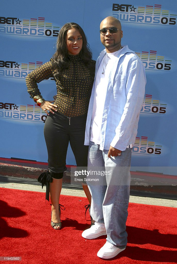 Alicia Keys and Kerry 'Krucial' Brothers during 2005 BET Awards Arrivals at Kodak Theatre in Los Angeles California United States