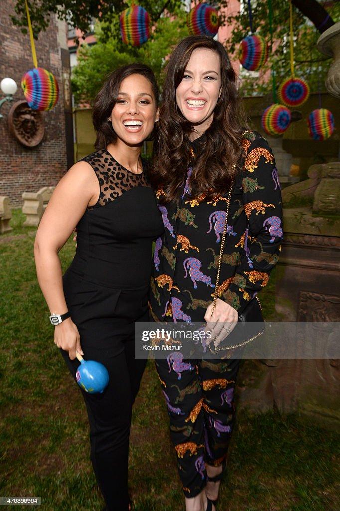 Alicia Keys and Liv Tyler attend the Stella McCartney Spring 2016 Resort Presentation on June 8, 2015 in New York City.