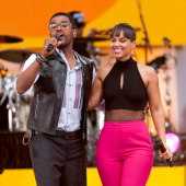 Alicia Keys and Maxwell perform on ABC's 'Good Morning America' at Rumsey Playfield on August 30 2013 in New York City