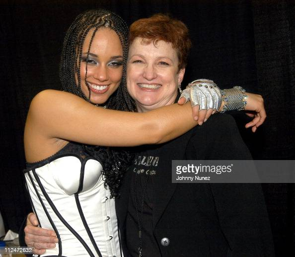 Alicia Keys And Mother Terri Augello During Verizons Ladies First